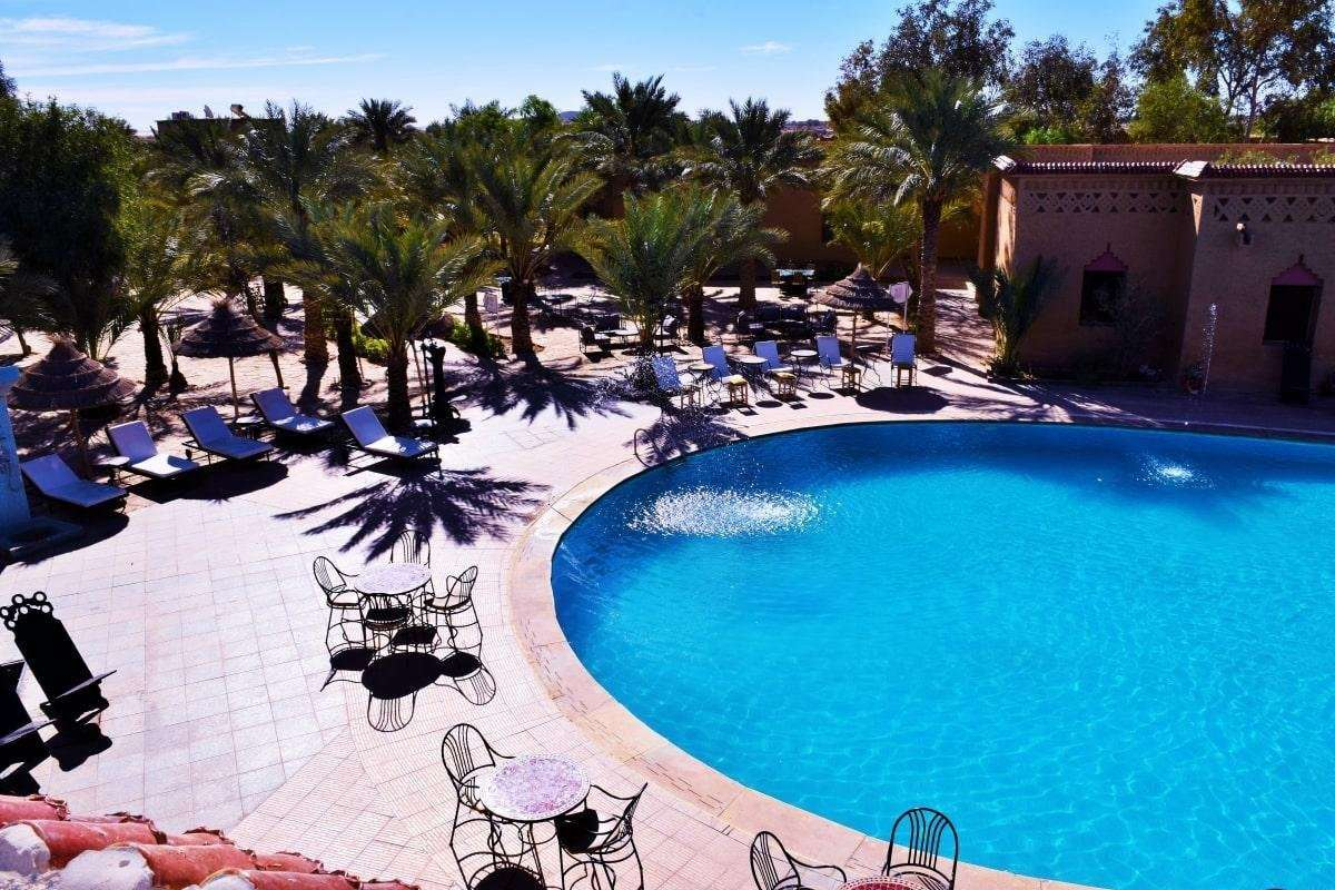 Hotel Palm's zwembad - Erfoud